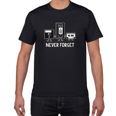 "T-shirt rétro ""Never forget"""