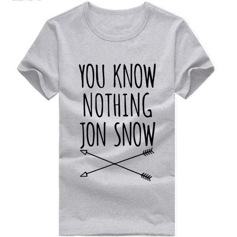 "T-shirts GOT ""You know nothing Jon Snow"""