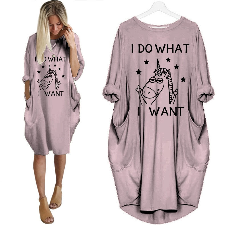 "Pyjama licorne ""I do what I want"""