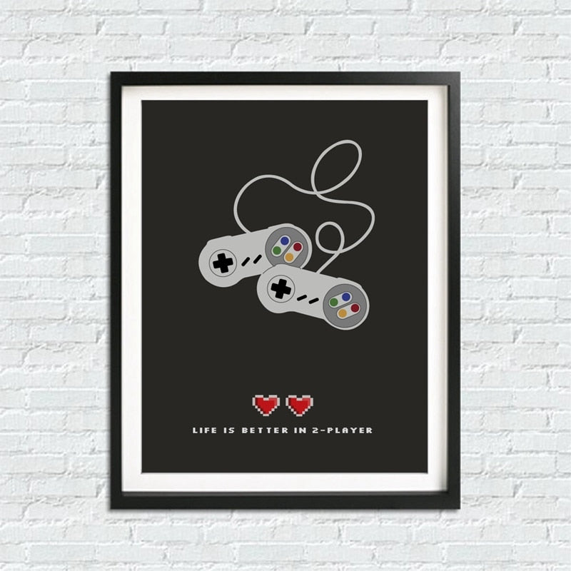 "Affiche ""Life is better in 2 Player"""