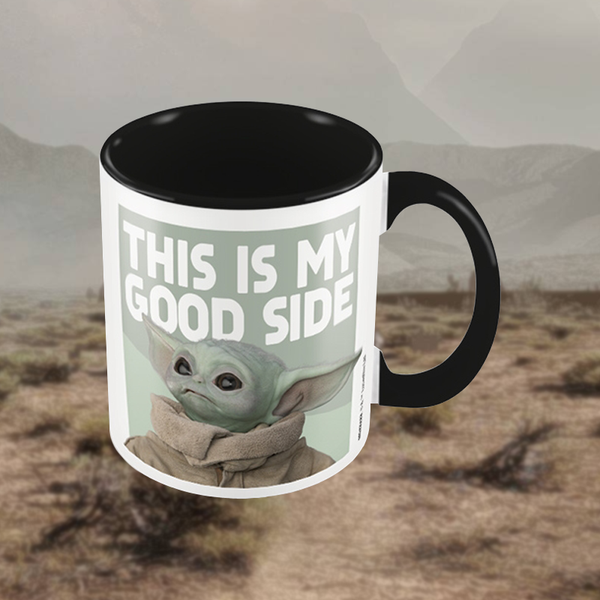 "Mug Baby Yoda ""This is my good side"" The Mandalorian"