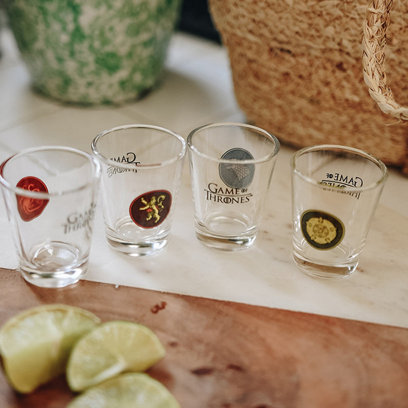 4 verres à shot Game of Thrones