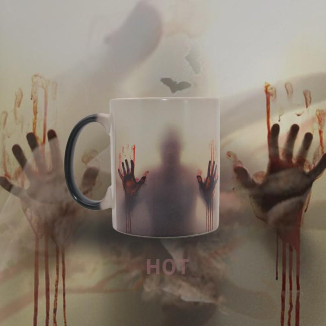Mug thermoréactif zombies