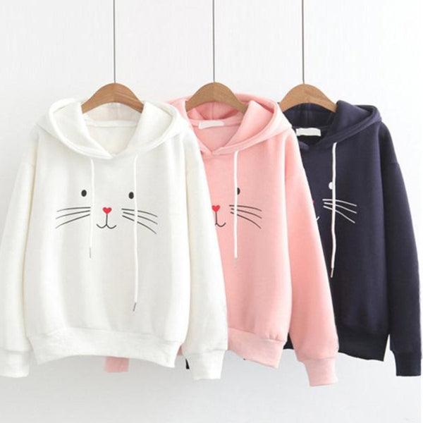 Hoodies chat Kawaii