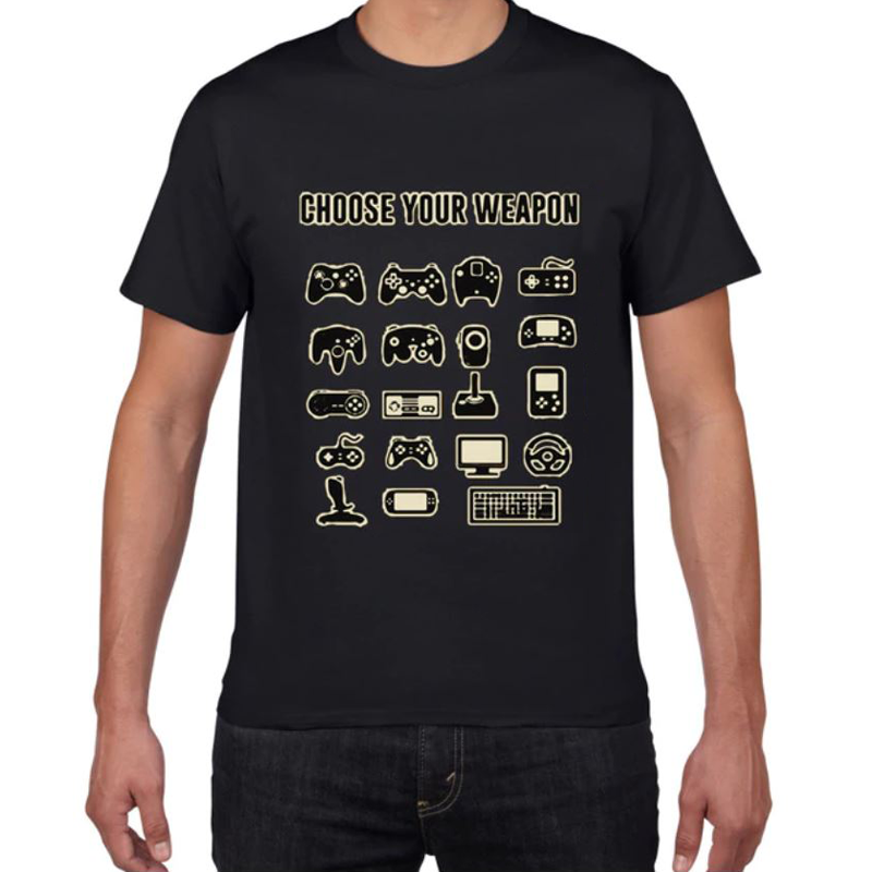 "T-shirt gaming ""Choose your weapon"""