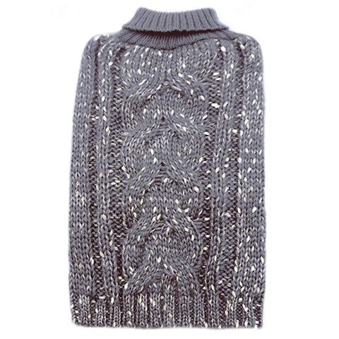 kyeese Dog Sweaters Reflective Snowflake with Leash Hole Grey Dog Hoodie Sweater Knitwear Warm Puppy Sweater Cat Sweater