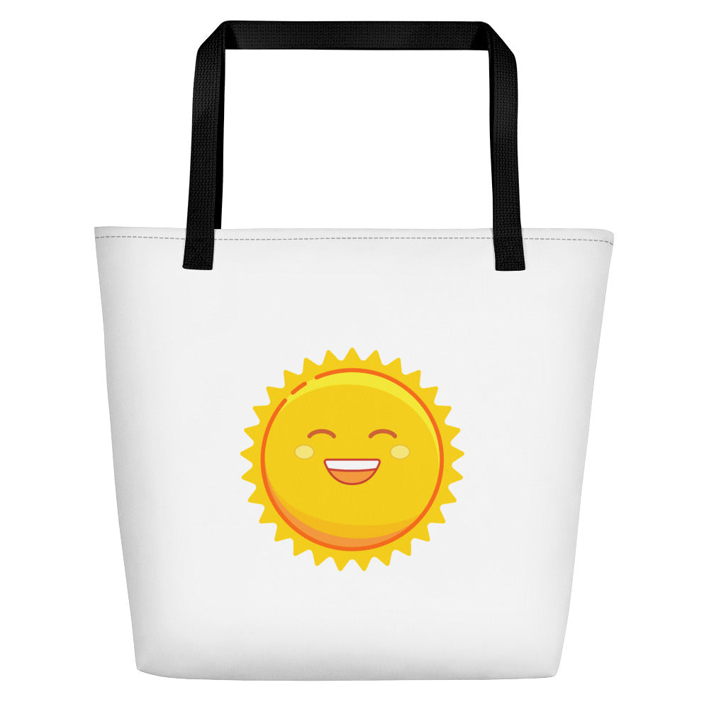 Weather Up Sun and Stormy beach bag