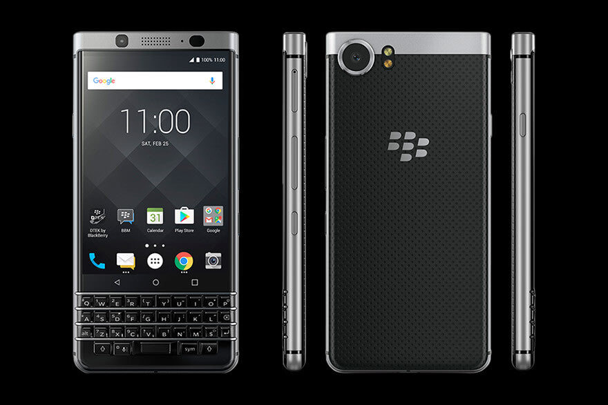 Mobile Phone - BlackBerry - KEYone Silver 32GB<当サイト限定:純正ケース+フィルム特典付き>