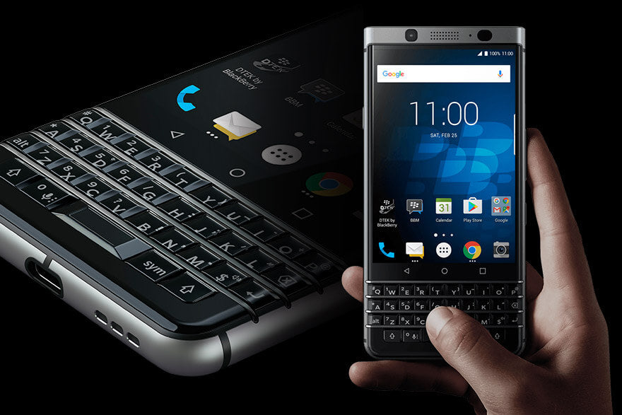Phone - BlackBerry - KEYone Silver 32GB<当サイト限定:純正ケース+フィルム特典付き>