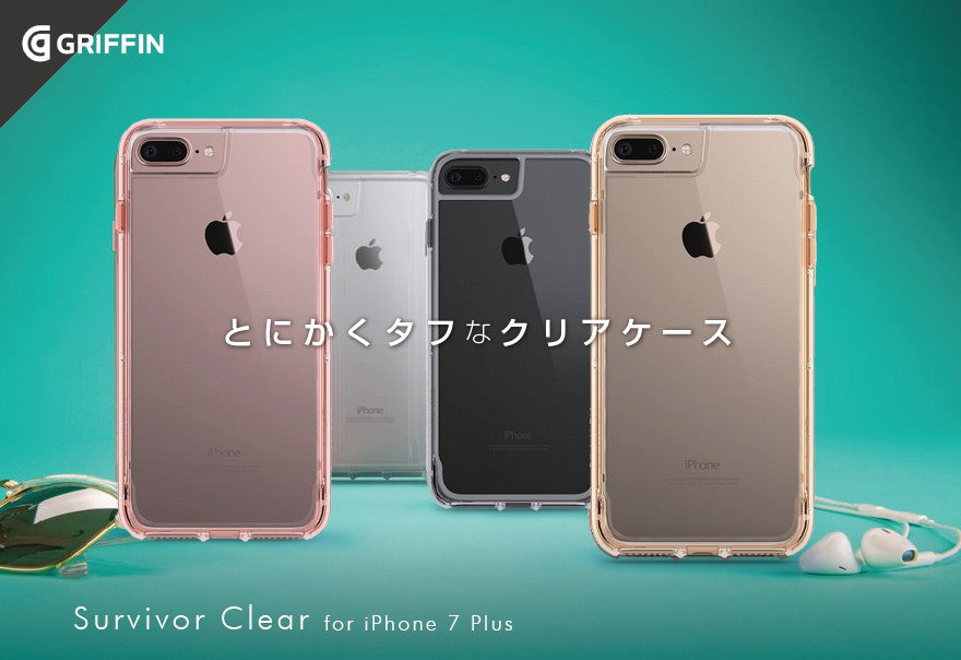 Electronics - Griffin - Survivor Clear for iPhone 8 Plus/7 Plus クリア