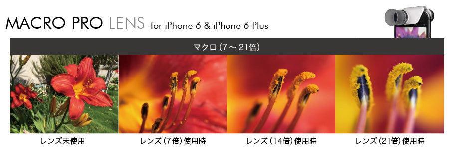 Pollen - olloclip - MACRO PRO for iPhone 6/6 Plus + Pendants