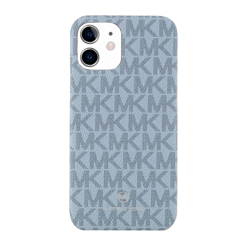 MICHAEL KORS - SLIM WRAP CASE SIGNATURE for iPhone 11 - Pale Blue Admiral