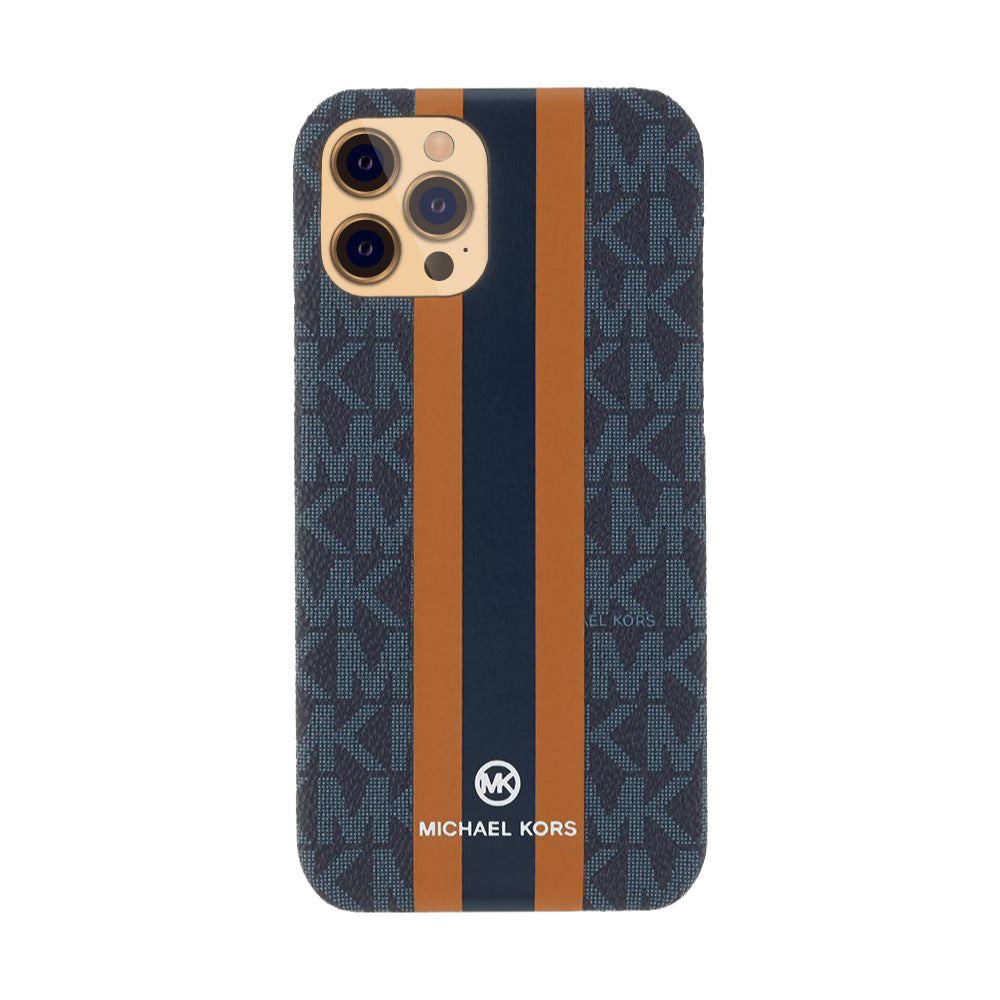 MICHAEL KORS - SLIM WRAP CASE STRIPE for iPhone 12/12 Pro - Admiral