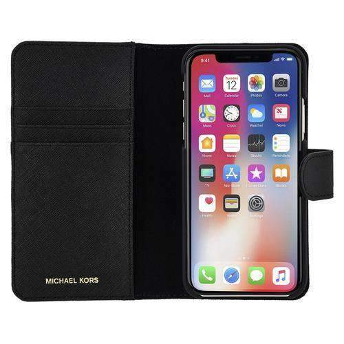MICHAEL KORS - Saffiano Leather Folio Case for iPhone X/XS /  - FOX STORE