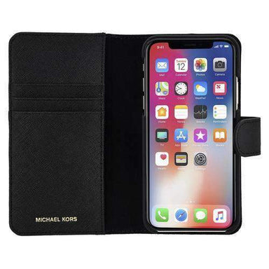 MICHAEL KORS - Saffiano Leather Folio Case for iPhone X/XS