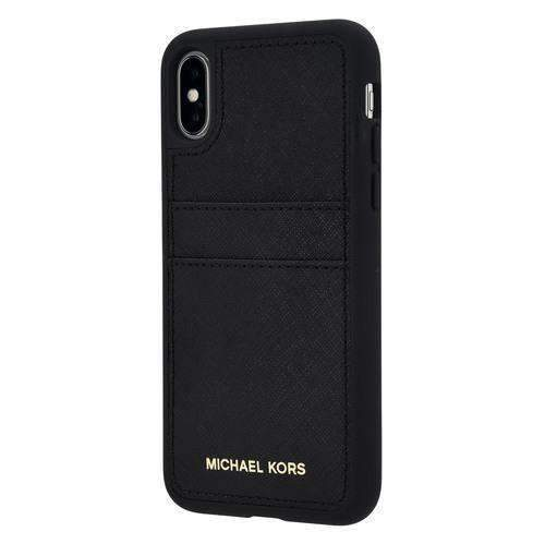 MICHAEL KORS - Saffiano Leather Pocket Case for iPhone X/XS /  - FOX STORE