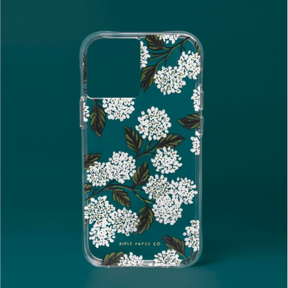 Rifle Paper Co. - Clear Hydrangea White for iPhone 12 Pro Max [ ホワイト ]