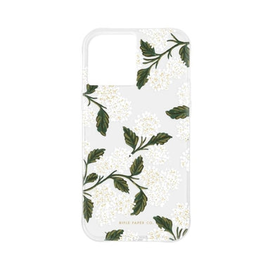 Rifle Paper Co. - Clear Hydrangea White for iPhone 12 mini [ ホワイト ]