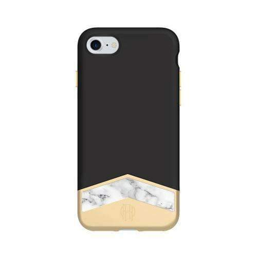House of Harlow - 2-PC SLIDER CASE WITH MARBLE INLAY for iPhone 8/7