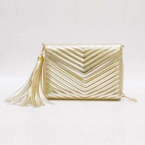 DRESSTIC - FRINGE MINI CLUTCH BAG - caseplay