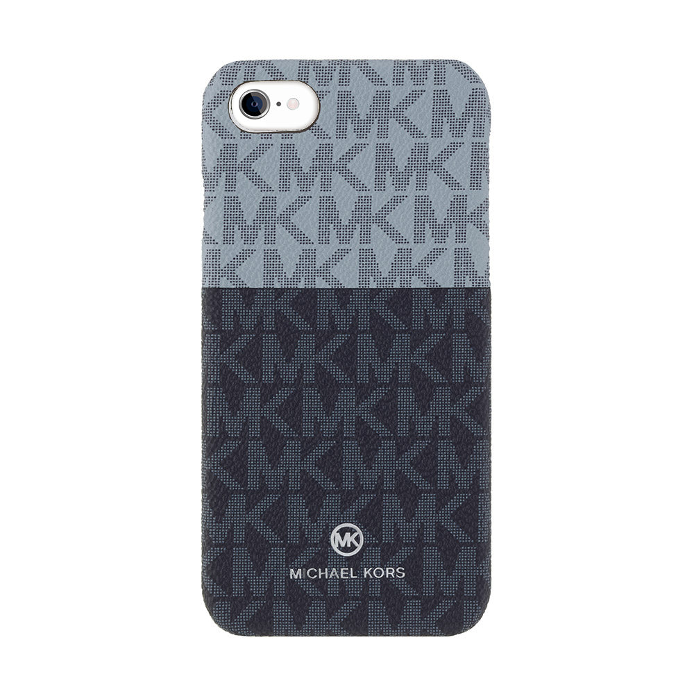 MICHAEL KORS - SLIM WRAP CASE 2 TONE for iPhone SE2 (第2世代) - Pale Blue Admiral / Admiral