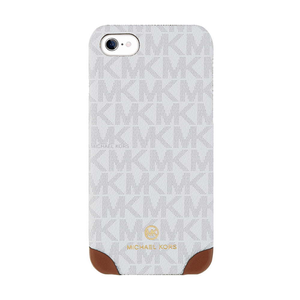 MICHAEL KORS - SLIM WRAP CASE 2 TONE for iPhone SE2 (第2世代) - Bright White