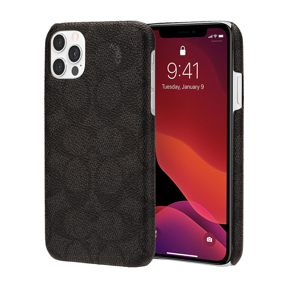 Coach - Slim Wrap Case for iPhone 12/12 Pro - Signature C Black