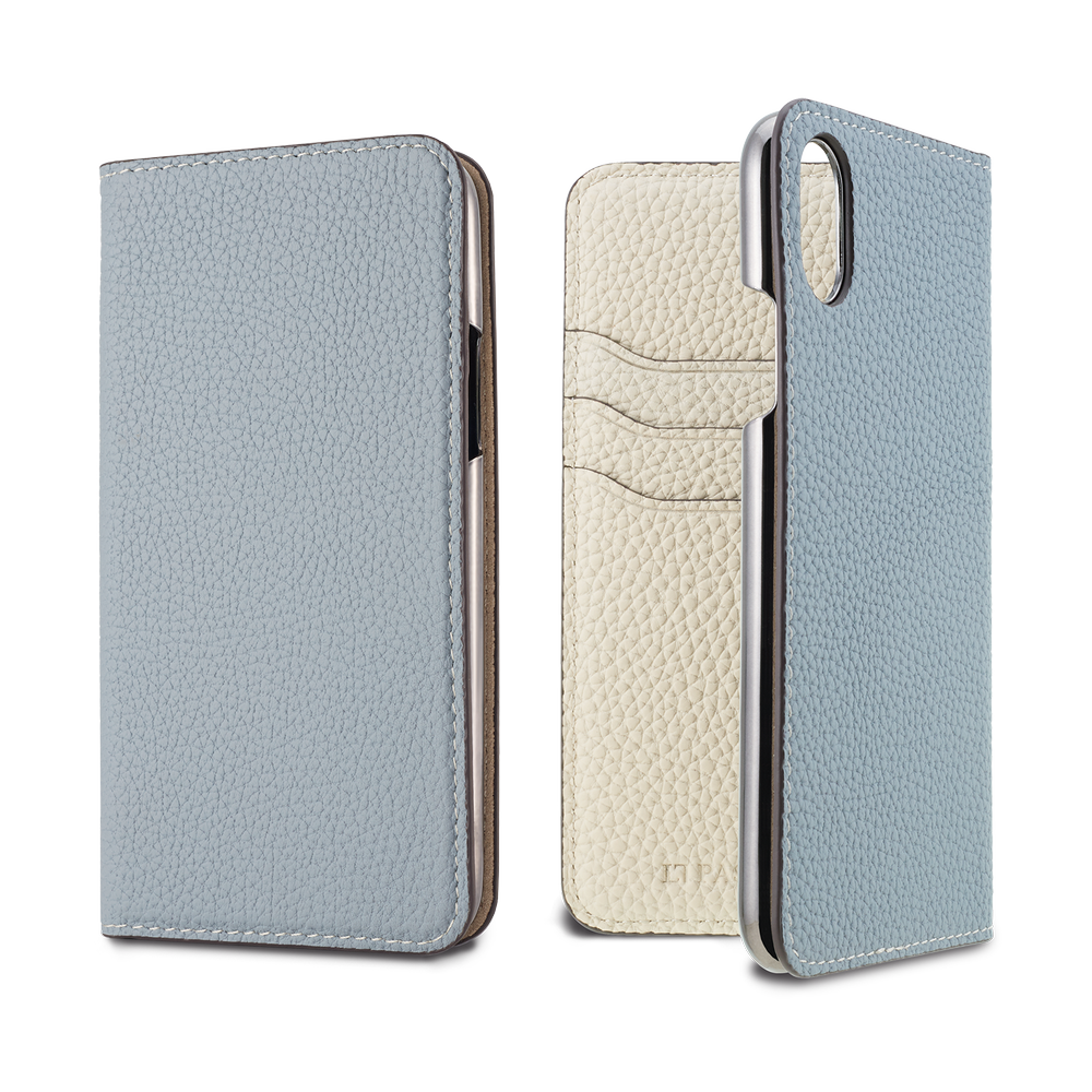 LORNA PASSONI - 2019 AW - German Shrunken Calf Folio Case for iPhone XS/X / ケース - FOX STORE