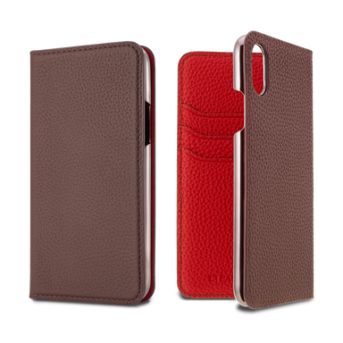 LORNA PASSONI - 2019 AW - German Shrunken Calf Folio Case for iPhone XS/X