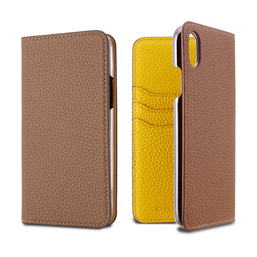 LORNA PASSONI - 2019 AW - German Shrunken Calf Folio Case for iPhone XR / ケース - FOX STORE