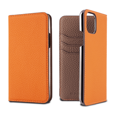 LORNA PASSONI - 2019 AW - German Shrunken Calf Folio Case for iPhone 11 Pro