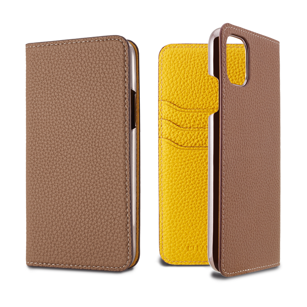 LORNA PASSONI - 2019 AW - German Shrunken Calf Folio Case for iPhone 11 / ケース - FOX STORE
