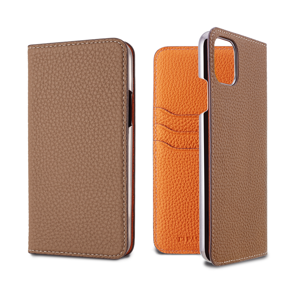 LORNA PASSONI - 2019 AW - German Shrunken Calf Folio Case for iPhone 11 Pro Max / ケース - FOX STORE