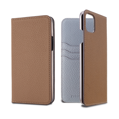 LORNA PASSONI - 2019 AW - German Shrunken Calf Folio Case for iPhone 11 Pro Max