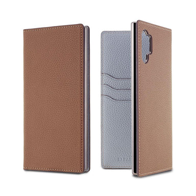 LORNA PASSONI - German Shrunken Calf Folio Case for Galaxy Note 10 + / ケース - FOX STORE