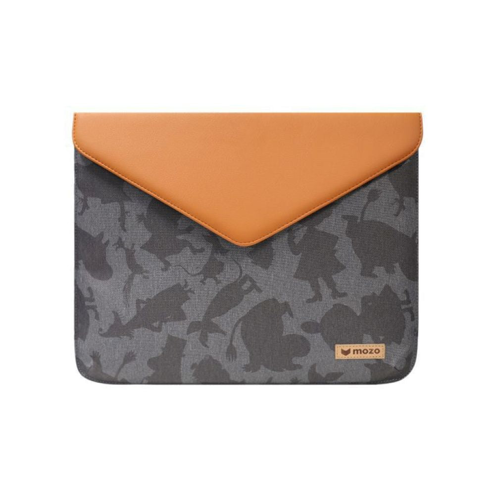 MOZO - MOOMIN Envelope Laptop Pouch 11-inch - Brown and Gray