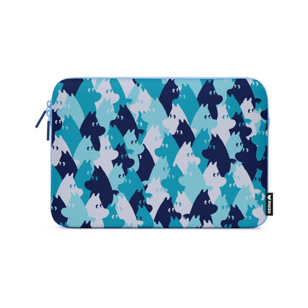 MOZO - MOOMIN Camo Laptop Pouch 15-inch - Blue