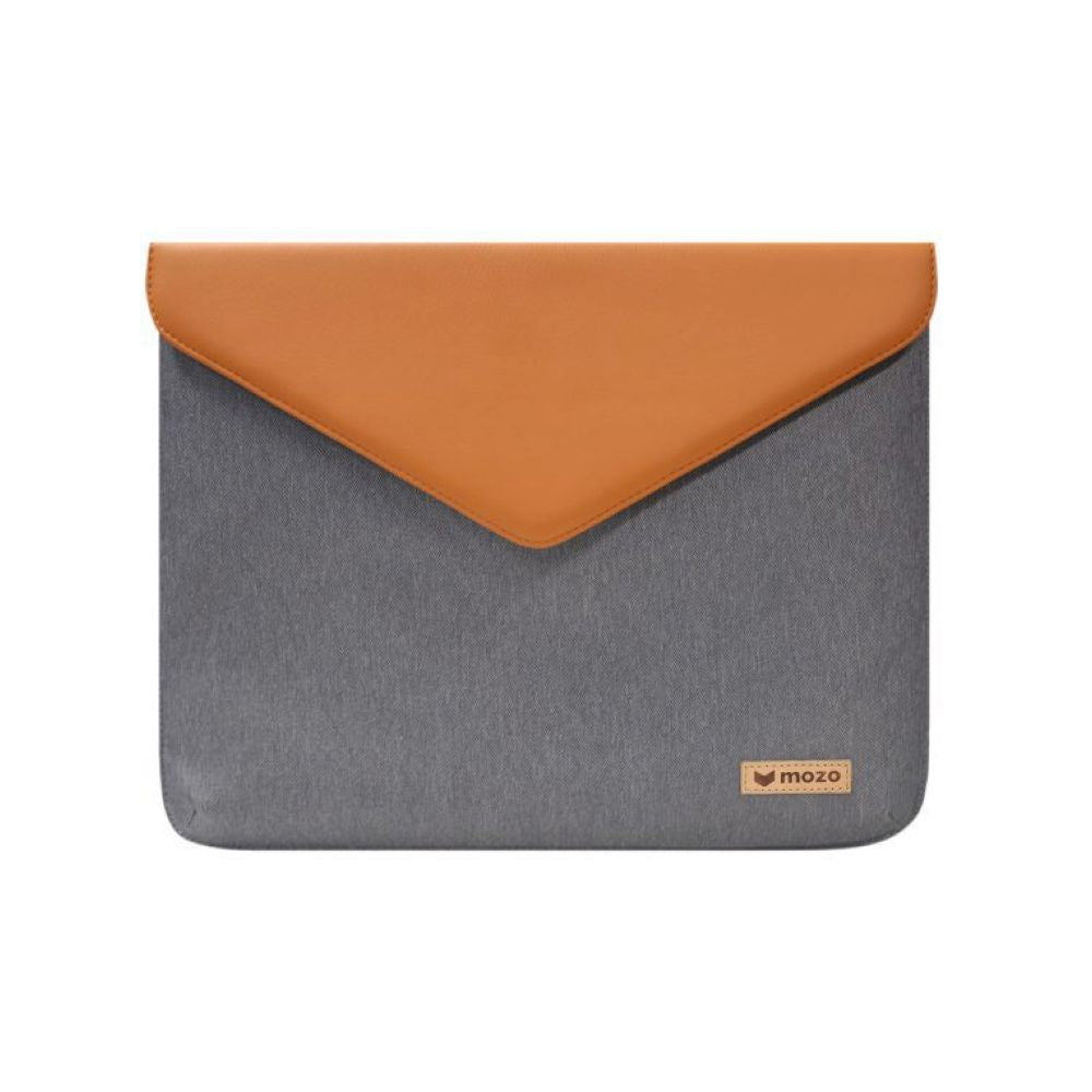 MOZO - Laptop Envelope Pouch 15-inch - Gray with Brown