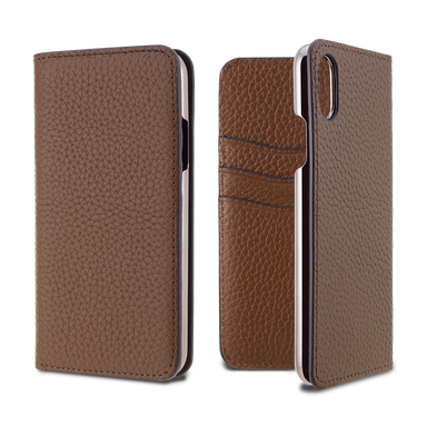LORNA PASSONI - Leather Folio Case for iPhone XS/X