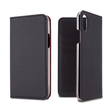 LORNA PASSONI - Leather Folio Case for iPhone XS/X / ケース - FOX STORE