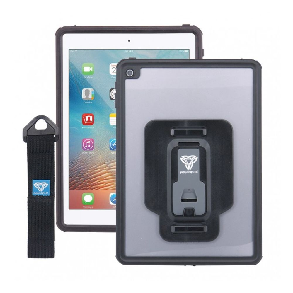 ARMOR-X - iPad Air 2 / iPad Pro 9.7 | IP68 2 METER WATERPROOF CASE WITH HAND STRAP - Black