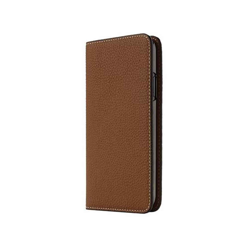 LORNA PASSONI - German Shrunken Calf Folio Case for iPhone XS/X