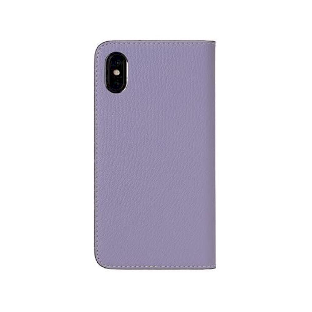 LORNA PASSONI - French Chevere Sully Leather Folio Case for iPhone XS/X - Lavande