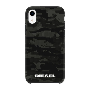 DIESEL - Printed Co-Mold Soft Touch Pixelated Case Camo Black for iPhone XR / ケース - FOX STORE