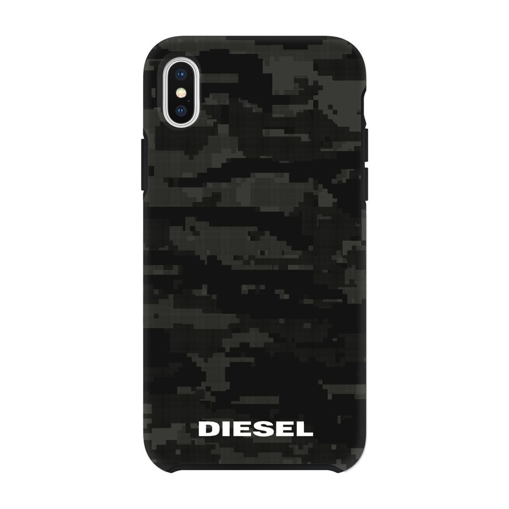 DIESEL - Printed Co-Mold Soft Touch Pixelated Case Camo Black for iPhone XS Max / ケース - FOX STORE