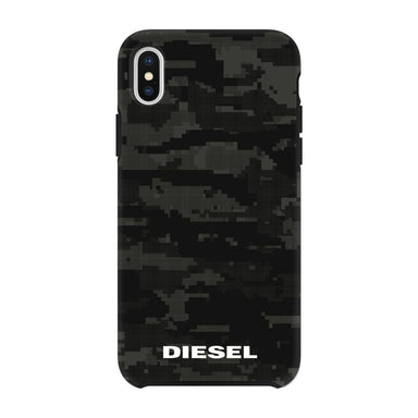 DIESEL - Printed Co-Mold Soft Touch Pixelated Case Camo Black for iPhone XS Max - caseplay