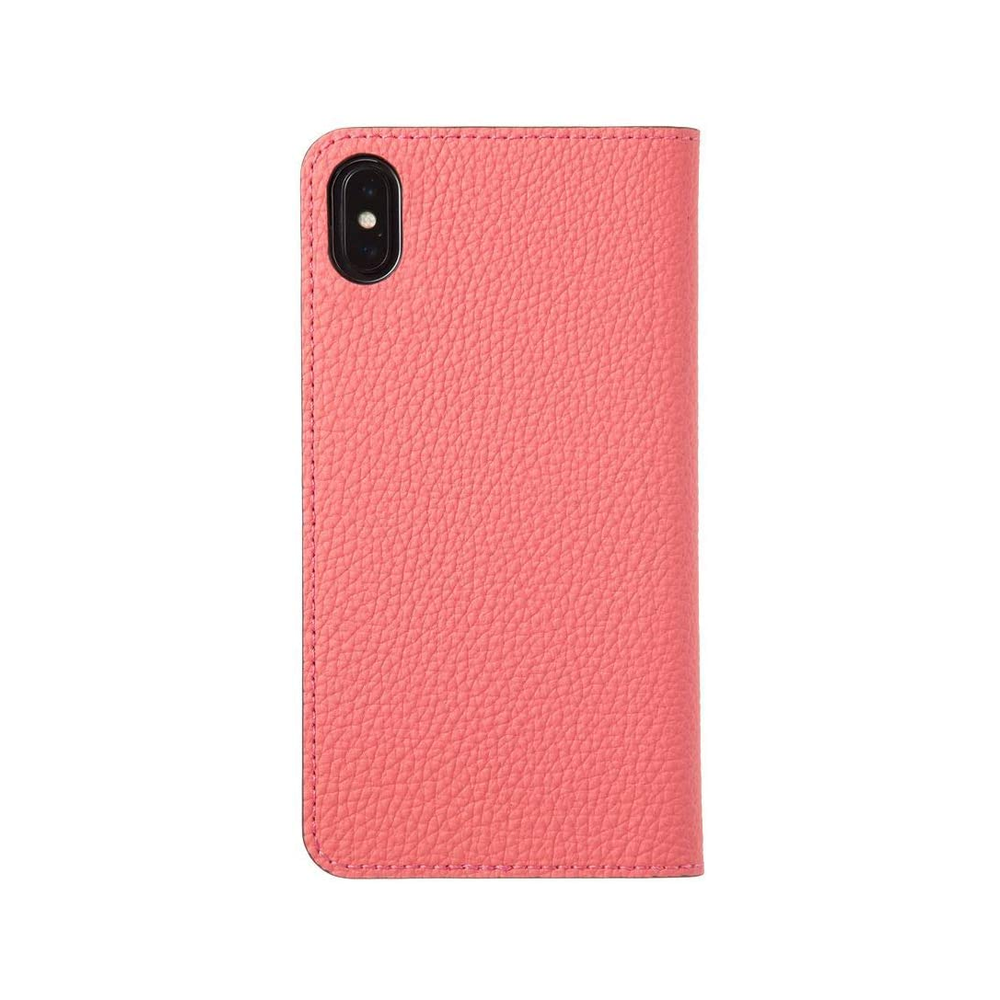 LORNA PASSONI - German Shrunken Calf Folio Case for iPhone XS Max - Tiki×Light Gray
