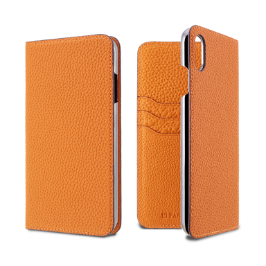 LORNA PASSONI - German Shrunken Calf Folio Case for iPhone XS Max / ケース - FOX STORE