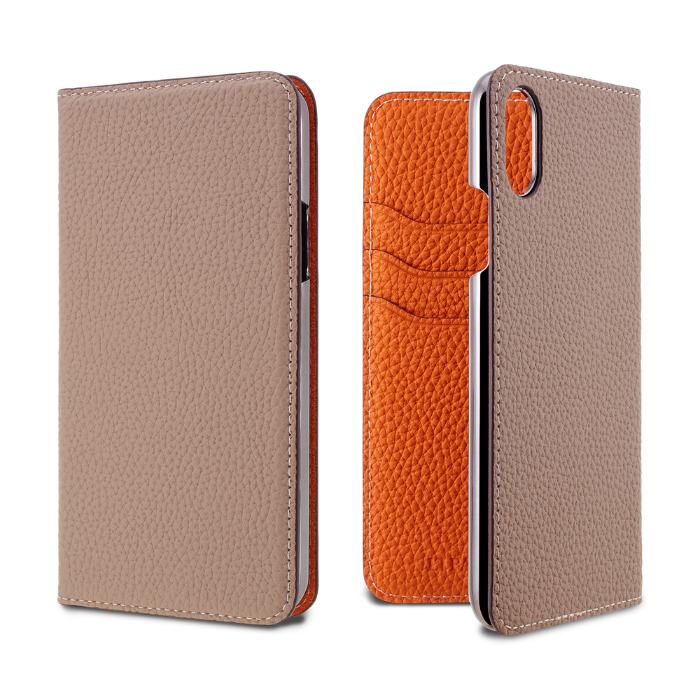LORNA PASSONI - German Shrunken Calf Folio Case for iPhone X/XS / ケース - FOX STORE