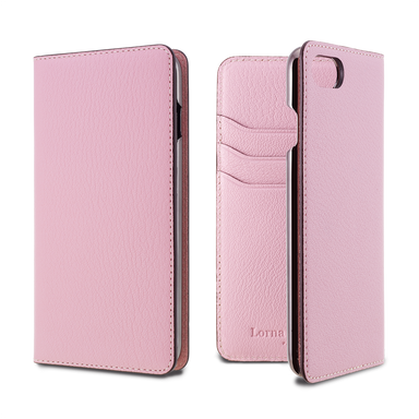 LORNA PASSONI - French Chevere Sully Leather Folio Case for iPhone SE 第2世代/8/7